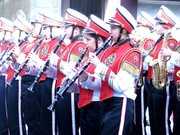 The Lansing High School Marching Band performed at the Veterans Day parade Nov. 11.