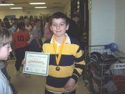Nathan Alguirre won first place in the Lansing Intermediate School Geography Bee.