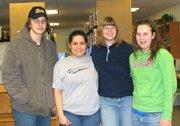From left: Brandon Rimmey, Ventura Layton, Jennifer Birdsall, Sarah Sargent