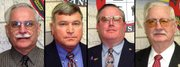 Don Studnicka of Ward 2, Billy Blackwell of Ward 3, David Trinkle Jr. of Ward 1, Kenneth Ketchum of Ward 4.