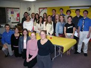 Lansing High School Spanish Honor Society inductees are: Jessica Bradford, Ben Crary, Elizabeth Cristiano, Kelsey Fallesen, Bianca Manago, Stephen Fischer, Geoffrey Fowles, Adam New, Amanda Radovich, David Kern, Abby Hauver and Caty Romero Torres. Current members were Kim Cavaleri, president; Jake Taylor, vice president; Christine Southard, secretary; Katie Adams, treasurer; Carolyn McKune; Micah White; Brent Huffman; and Katie Lowe. Radovich is not pictured.