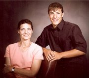Garrett Palmer with his mother, Ruth Palmer.