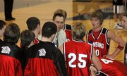 LHS coach Don Allen had his Lions fired up and ready to compete early in the game against Gardner.