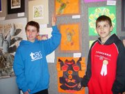 The Carnegie Art cetner recently showed pieces of area school-age students, including Brad Brown and Cole Portenie, both of Lansing Intermediate School.
