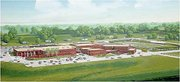 An artistic rendition of the proposed addition to Lansing High School.
