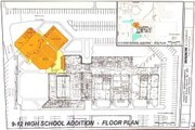 Blueprints of the proposed high school addition.