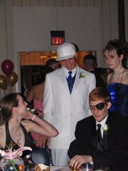 Shaun Robinson, Sarah Glynn, Jon Terrill and Rebecca Givens at the Lansing High School prom on Saturday April 23.