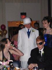 Shaun Robinson, Sarah Glynn, Jon Terrill and Rebecca Givens at the Lansing High School prom on Saturday April 23.