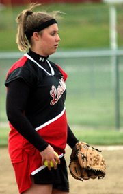 Senior pitcher Jessica Kane struck out 10 batters in the Lions' 1-0 victory over Basehor-Linwood.