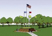 An artists rendering of the proposed Lansing Memorial for Veterans.
