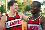 Juniors Jeff Slater and E.J. Corinealdi couldn't hold back their smiles after learning that they'd qualified for state in the 400-meter relay.