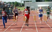Takeisha Jenkins finished second at state in the 300-meter hurdles.