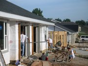 Construction of townhomes continues on Fawn Valley Court. Though housing starts continue to climb, a Census Bureau estimate showed Lansing gained just 73 residents from July 2003 to July 2004.
