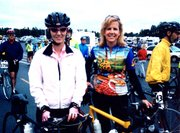 "Vickie Kelly, left, and Tera Cameron rode in the ""Group Health Seattle to Portland Bicycle Classic"" last month."