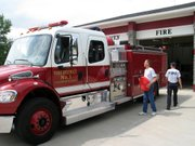 Leavenworth County Fire District No. 1 has its first new truck in 10 years - a 2005 Freightliner that cost $179,000.