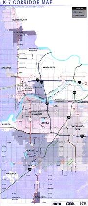 K-7 corridor map