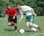 LHS junior Kyle Buehler cuts off an Immaculata player's path during the Lions' 6-1 victory on Tuesday.