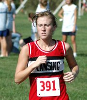Lori Flippo, Lansing High junior, competes at the Tonganoxie Invitational on Thursday.