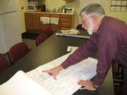 Public Works director John Young goes over plans for the $11.3 million Main Street project.