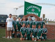 The Leavenworth Thunder, a 12-and-under girls soccer team, won the 2005 TRYSA Coca-Cola Classic Soccer Tournament in Emporia.