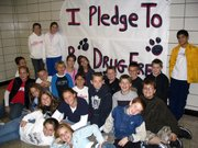 Lansing students are marking Red Ribbon Week this week with pledges to remain drug-, tobacco-  and alcohol-free.