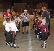 Pre-game coin toss.