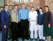 The Lake family gathers Sunday, Nov. 13, to mark the 24th anniversary of Pastor Kenneth Lake at Emmanuel Baptist Church. Back row, from left, are Ken, Ron, William and Anthony. Front row, from left, are Kenneth, Nathan, Andrew, Micah, John and Teresa. The church also observed its 34 anniversary the same day.