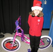 Ivana Lopez won this bike inBoys and Girls Club outreach program.