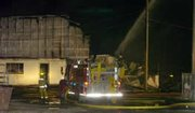 "An early morning fire around 4 a.m. engulfed the three-story De Soto Feed and Grain elevator building. Firefighters called for mutual aid from Johnson County and Olathe. Control of the fire was gained around 5:30 a.m. <a onclick= ""window.open('http://www2.ljworld.com/photos/galleries/2005/dec/30/desoto_grain_elevator_fire/9705/', 'PhotoGallery', 'width=650,height=650,scrollbars=yes,resizable=yes'); return false;"" href= ""'http://www2.ljworld.com/photos/galleries/2005/dec/30/desoto_grain_elevator_fire/9705/""> View Journal-World photo gallery.</a>"