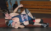 Lansing High senior Jeff Terrill was the Holton Invitational champion at 145 pounds.