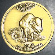 "The back of the coin is identical to the back of the ""Kansas quarter."""