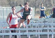 Jackie Goleman finished second in both hurdles races, but won high jump.