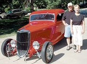 Bud and Sandra Watson's national award-winning 1934 Coupe will be one of the cars on display at Saturday's Planes, Trains and Automobiles event downtown.