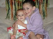 Brianna Krause, 1, and her big sister, MacKenzie Krause, 3