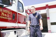 Jeff Simpson, a firefighter with Leavenworth County Fire District No. 1, is the Lansing VFW's Firefighter of the Year.