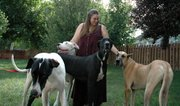 Amy Lionberger is a volunteer with Rocky Mountain Great Dane Rescue Inc. The Lansing woman last week received permission from the City Council to take in a fifth dog at her house.