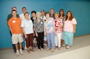 Family members helped Myrtle Parsons celebrate her 95th birthday. Back row from left are Byron Parsons, Terry Parsons, Linda Noyes, Mildred Shank, Forrest Parsons and Theresa Fearn. Front row from left are T.J. White, Linda Parsons, Millie Hockett, Myrtle Parsons, Carolyn Parsons and Dana Demaree.