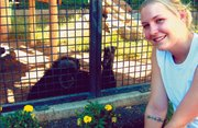 Lindsey Welch, a Kansas State University student and Immaculata High School graduate, spent part of her summer at Chimps Inc., an animal sanctuary in Bend, Ore. Welch is a senior in anthropology with an emphasis on primatology.