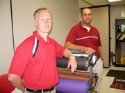Rod Briggs, left, and Ben Doll are the new co-sponsors of Leadership at Lansing High School. They recently began their first school year at LHS.