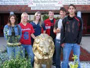 The 2006 homecoming queen and king candidates at Lansing High School are, from left, Courtney Hall, Abby Hauver, Elizabeth Cristiano, Nate Markovetz, Stefan Froelich and Alex Burton. For more on homecoming, see page 3A.