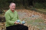 Mike Keohane and his boccie court