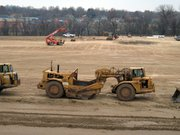 Construction crews continue work at the site of the new Lansing Elementary School on West Mary Street. The project is scheduled for completion in December 2007.