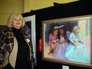 Lynette Hayes' painting was the second-place winner.
