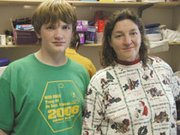 Lexington Trails Middle School eighth grader Derek Smith and his mother, Teresa, spent time together last week with the Troop 51 pancake breakfast. Derek's parents volunteer at many of his scout and school events.