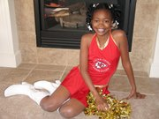 Jasmine Hill, a fifth-grader at Lansing Intermediate School, has completed a six-month program with the Kansas City Chiefs junior cheerleaders.