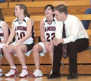 Lansing High junior varsity girls basketball coach Dan Wessel and his players had plenty to smile about Friday during their 47-16 victory over Turner.