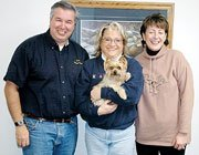 "Ken Wagner, Sherri Zerr and Diane Wagner were all smiles this week after ""Pip,"" the Wagner's Yorkshire Terrier who was staying with Zerr, was found after being missing for five days."