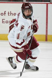 Meghan Fardelmann, a Lansing native, plays on the women's ice hockey team at Boston College. Fardelmann was named the Hockey East Player of the Week this week.