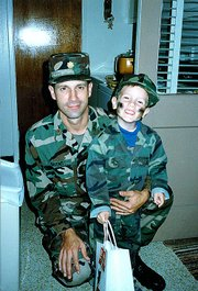 Jeff Givens and his father on Halloween 1988.
