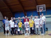 The Lansing Knights of Columbus held their annual free throw competition on Jan. 14 at Lansing Activity Center. Event winners are, front row, from left: Parker King, Sean Tweet, Clayton Bogner, Connor Tweet, McKenzie Hersh, Keli Myracle, Shauna Vant-Leven and Cassy Roberts. Not pictured is age group winner Evan Harris. Knights who helped run the event are, back row: Tom Young, Ron Massia, Bill Butler, Don Studnicka, Tom Smith, Bob Hall, Dave Young and Jeff Martin. Age group winners advanced to the district competition.